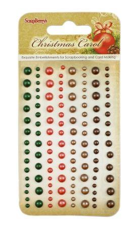 Samolepicí perličky 120ks Christmas Carol SCRAPBERRYS