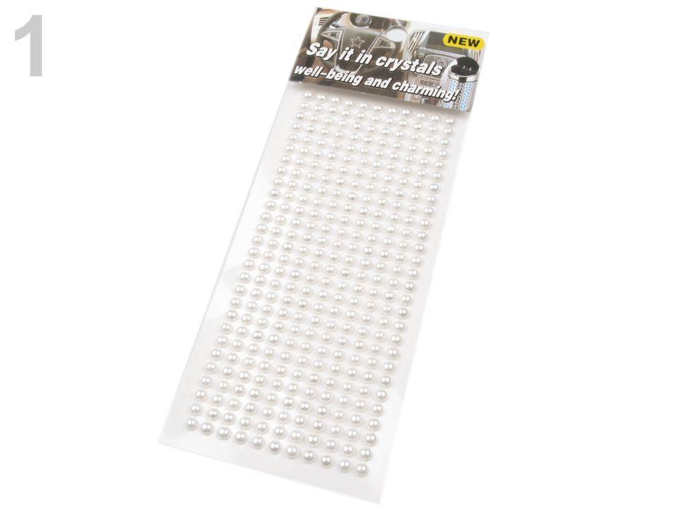 Samolepící perly v pásku 4 mm - bílé na scrapbooking nezařazeno