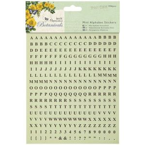 Samolepky Botanicals (306ks) - Mini abeceda