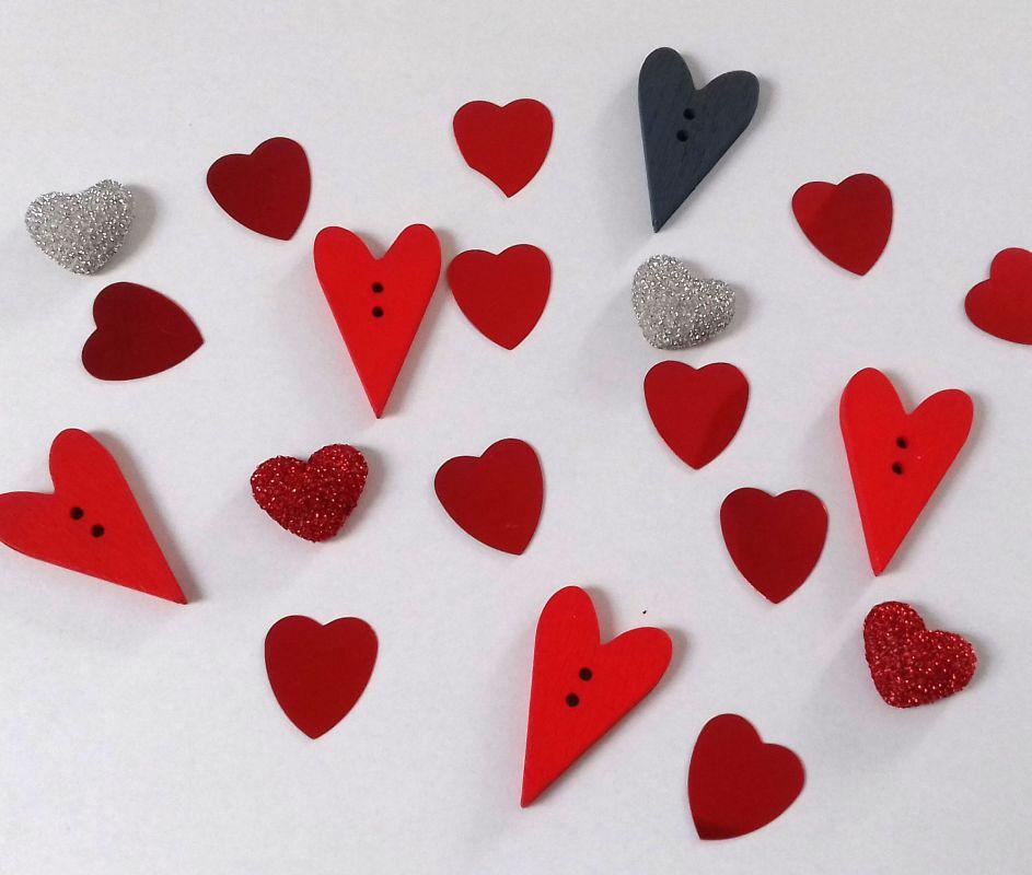 Scrapglamour - Valentinské dekorace - sada k dozdobení, určeno na přání a scrapbooking