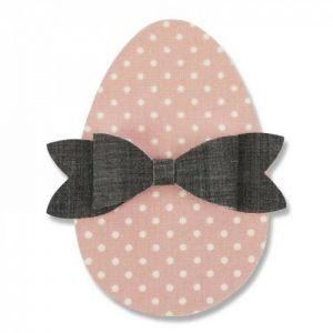 Velikonoční vejce s mašlí - vyřezávací šablona Bigz
