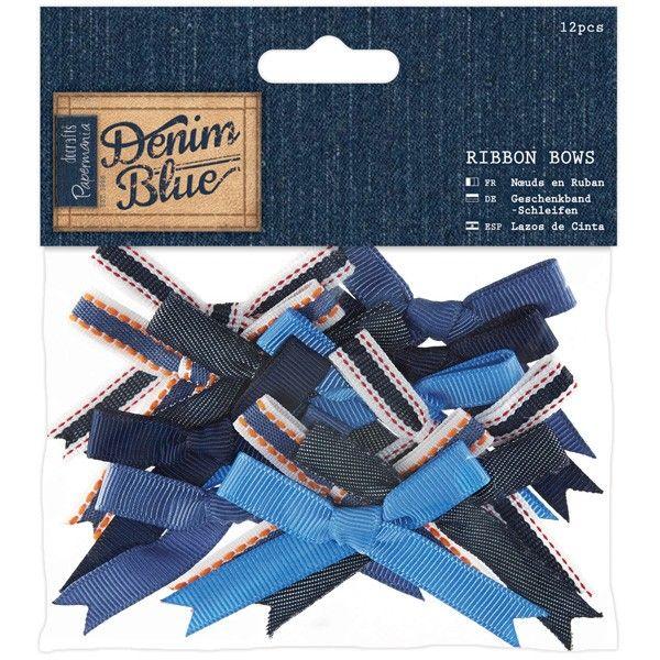 Velké mašličky (12ks) - Denim Blue Papermania