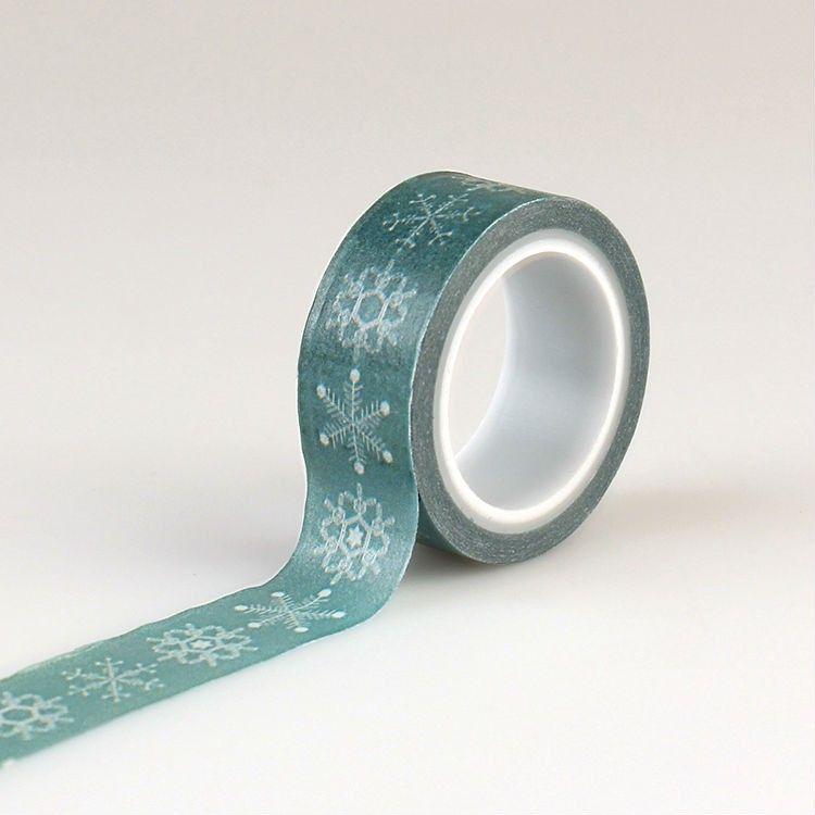 Washi páska Modrá se sněhovými vločkami echo park paper co.