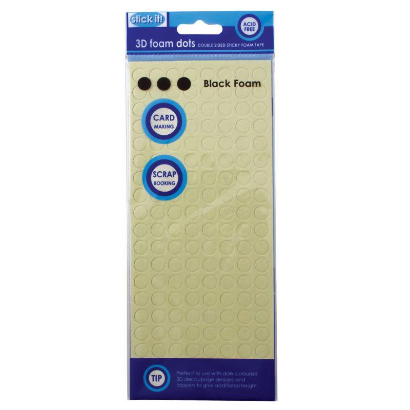 Lepidlo vhodné na scrapbooking i cardmaking 3D pěnové polštářky tečky 10 mm- černé Design Objectives