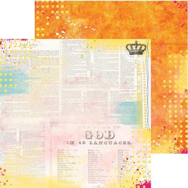 Oboustranný papír na scrapbook Believe Blessed - BoBunny, cardmaking, scrapbooking