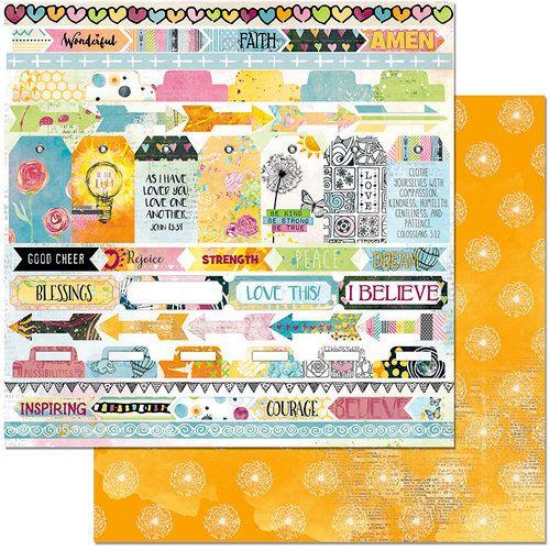 Oboustranný papír na scrapbook Faith Rejoice - BoBunny, cardmaking, scrapbooking