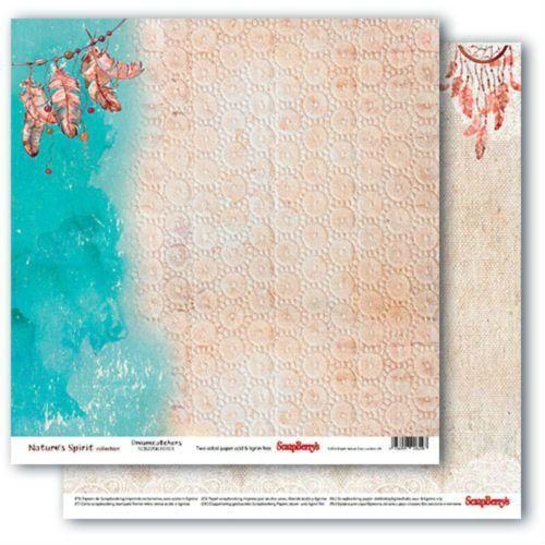 Oboustranný papír na scrapbook ScrapBerry´s Dreamcatchers vyšší gramáže 180 gsm SCRAPBERRYS