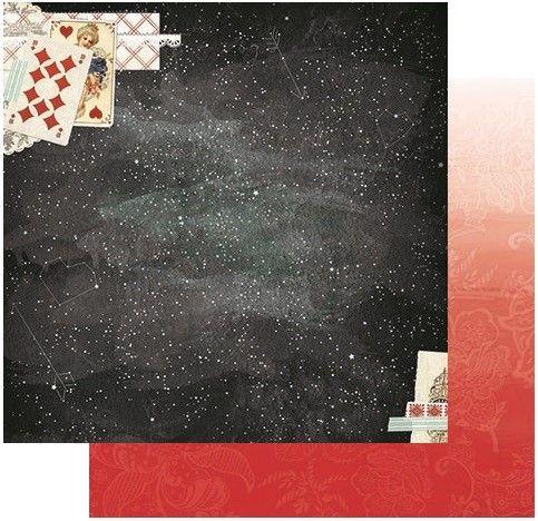 Oboustranný papír na scrapbook Star-Crossed Constellation - BoBunny, cardmaking, scrapbooking