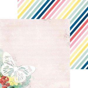 Oboustranný papír na scrapbook Sweet Life - Wish