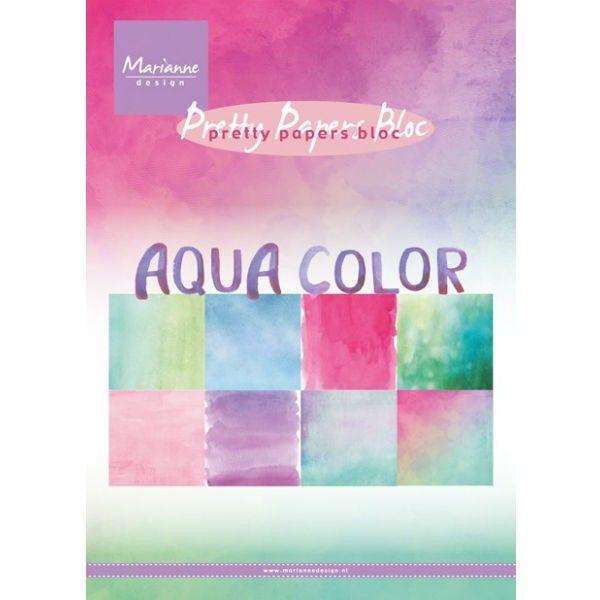 Sada papírů na scrapbooking Marianne Design - Aqua color, A5 - 8 ks