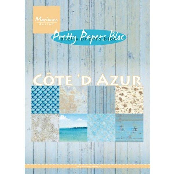 Sada papírů na scrapbooking Marianne Design - Côte´d azur, A5 - 8 ks