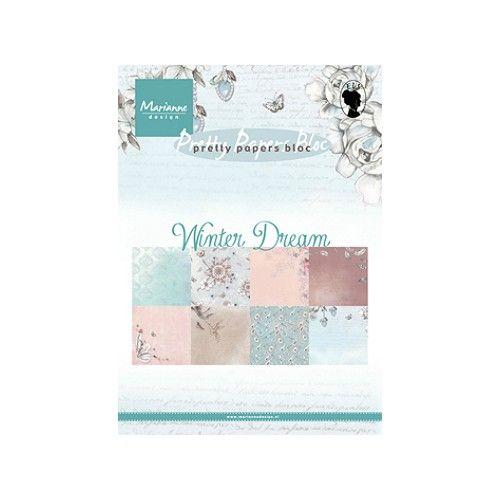 Sada papírů na scrapbooking Marianne Design - Country Christmas, A5 - 8 ks
